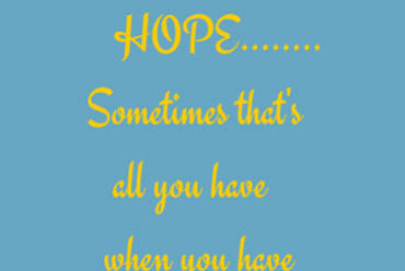 Daring to Hope or Waiting for the Fall?