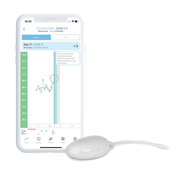 OvuSense Fertility App and Sensor